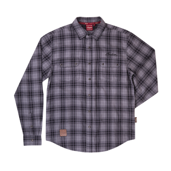 Indian GRAY BLACK PLAID HEMD