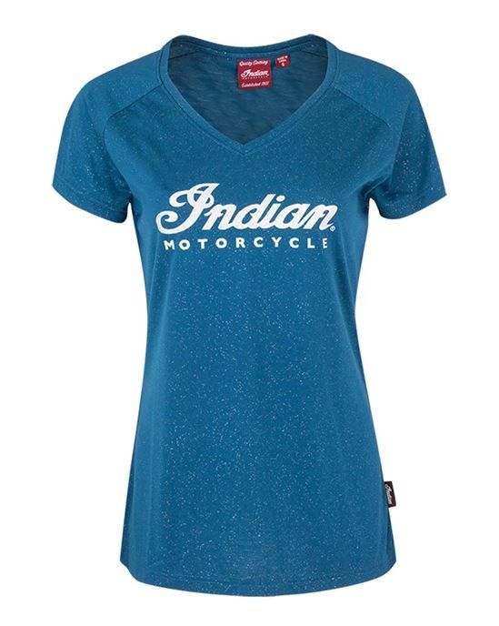 Indian Womens Teal Sparkle T-Shirt